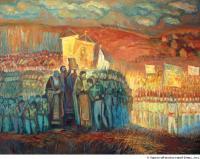"""""""Во имя духовных благ..."""" Отечественная война 1812 года в творчестве современных российских художников."""